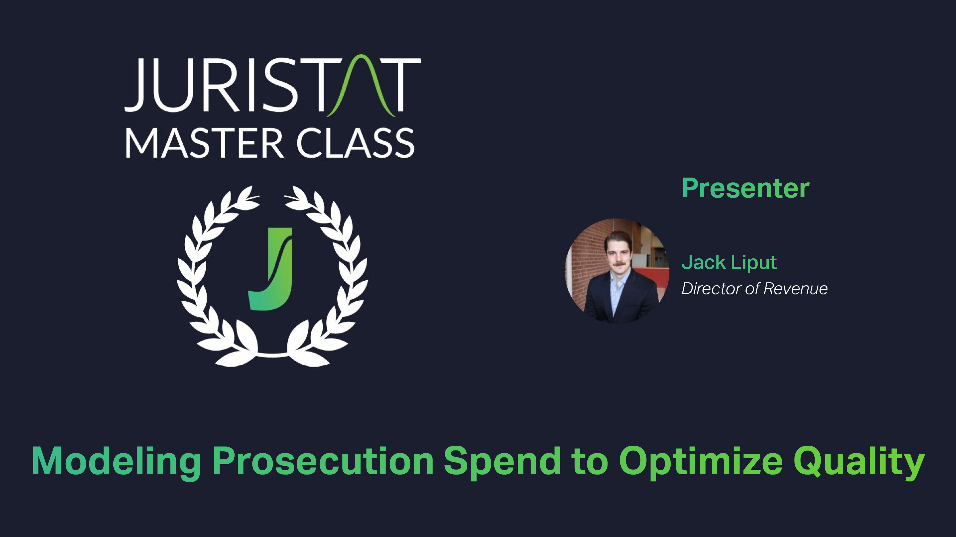 Modeling Prosecution Spend
