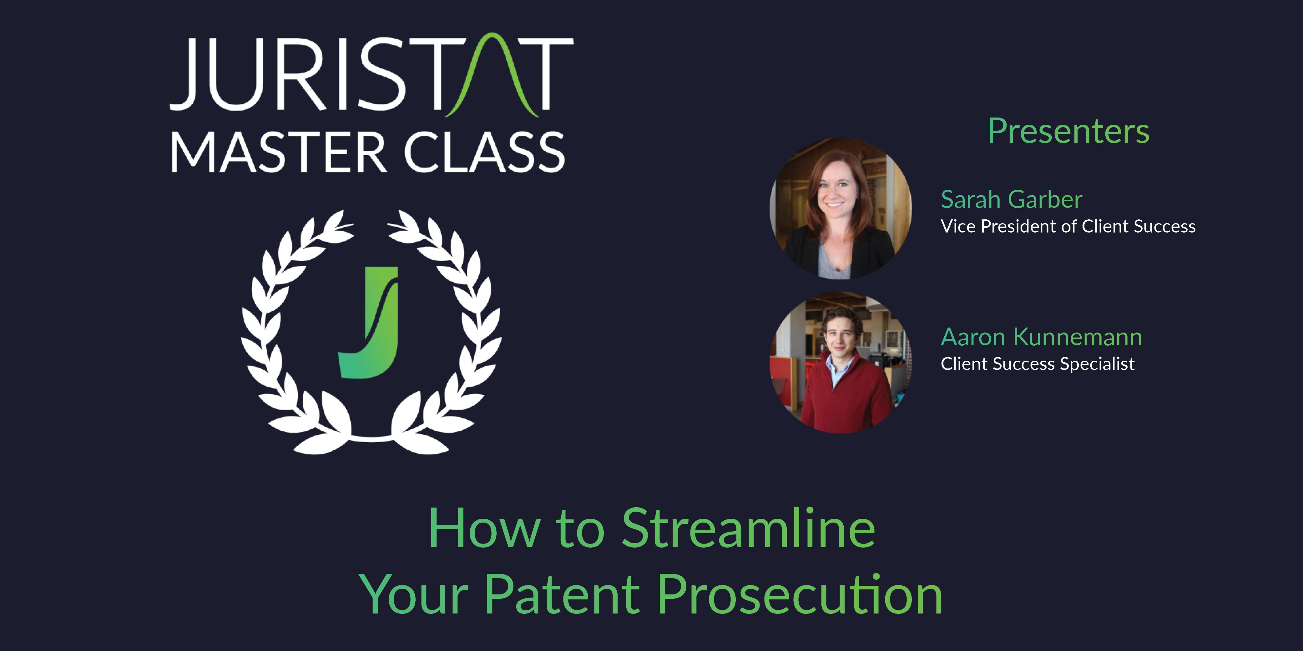 Webinar Streamline Patent Prosecution